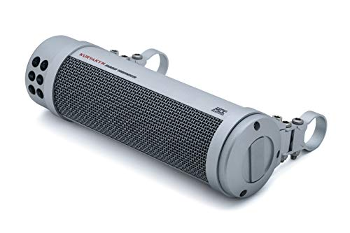 Kuryakyn 2714 MTX Road Thunder Weather Resistant Motorcycle Sound Bar: 150 Watt Handlebar Mounted Audio Speakers with Bluetooth, Satin Silver ()