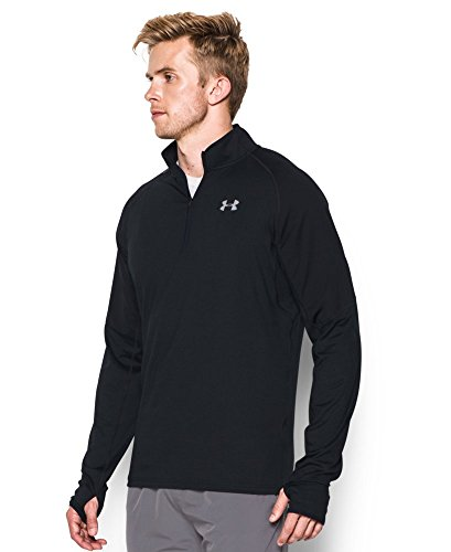 Under Armour Men's No Breaks Run 1/4 Zip, Black/Black, Small by Under Armour (Image #2)