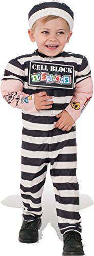 Rubies Costume Child's Lil Prisoner Costume, Small, Multicolor
