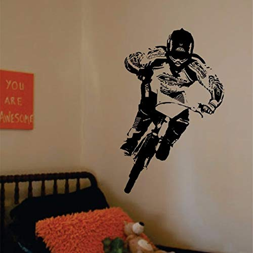 BMX Biker Decal Vinyl Wall Art Stickers for Kids Rooms Boys Girls Living Room Home Decal Decor Sports Bicycle Wall Poster A426