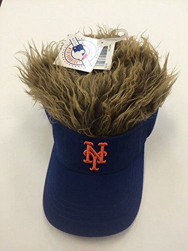 The Northwest Company MLB New York Mets Flair Hair Adjustable Visor, Black ()