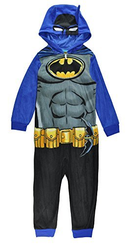 DC Comics Big Boys' Costume, Batman Superhero Onesie