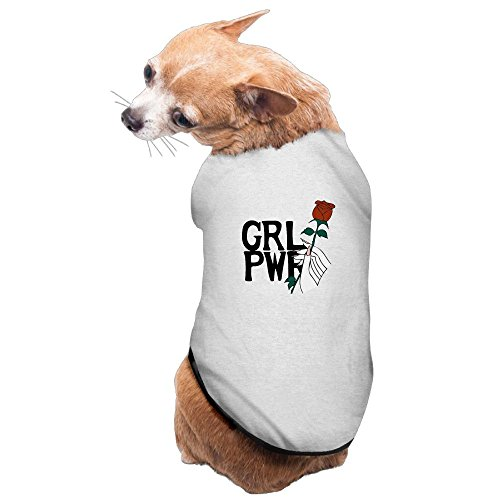 SEKODOVE Pet Dog Warm Clothes Puppy Jumpsuit Hoodie Coat Doggy Apparel Girl Power Woman Hand Rose Flower Dog Sweaters