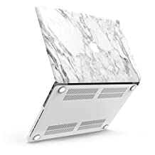 """iBenzer Basic Soft-Touch Series Plastic Hard Case Cover for Old Macbook Pro 13.3"""" with Retina Display NO CD-ROM (A1502/A1425), White Marble CA-MP13R-01WHMB"""
