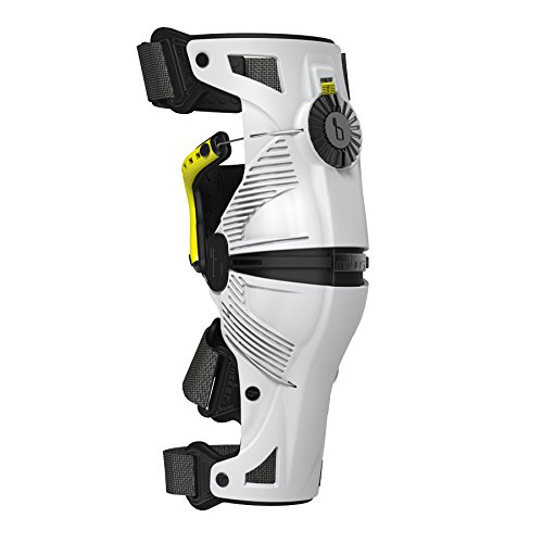 Mobius X8 Adult Knee Brace Off-Road Motorcycle Body Armor - White/Yellow / Large