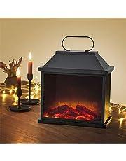 EASYmaxx LED-Kamin | Lodernde Flammen | Schwarz