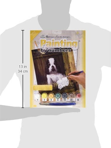 Royal /& Langnickel 11 x 15 inch Spaniel Puppy Pre-Printed Paint by Number Painting Set