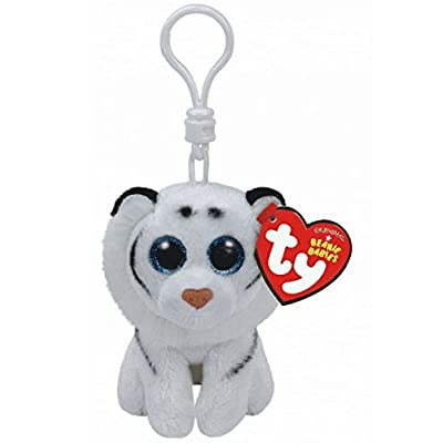 TY Beanie Boos Tundra the White Tiger, Keyclip!: Toys & Games