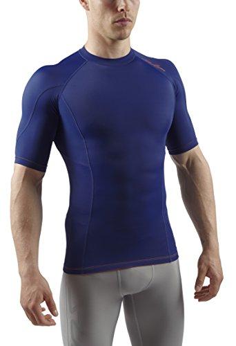 De vêtement Sub Fonctionnel Bleu Sports haut Rx Courtes Compression Manches Marine Sous Homme 6gq0gw