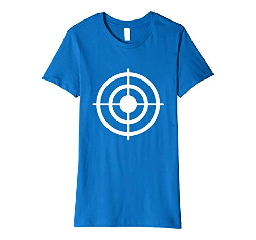 Womens Funny Bullseye Paper Target Halloween Costume T-Shirt Small Royal Blue