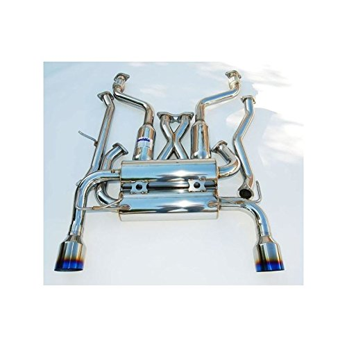 (Invidia 02-08 Nissan 350z Gemini Single Layer Titanium Tip Cat-back Exhaust (hs02n3zgit))