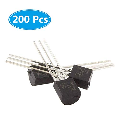 (200 Pcs) McIgIcM 2N2222 Transistor, 2N2222A to-92 Transistor NPN 40V 600mA 300MHz 625mW Through Hole