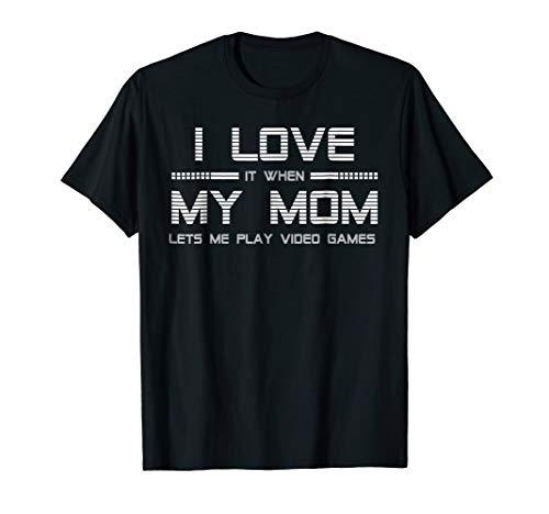 Teen Boy Gift T Shirt I Love My Mom Tee