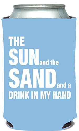 Mary Phillips Collapsible Can Cooler - The Sun And The Sand And A Drink In My Hand. -