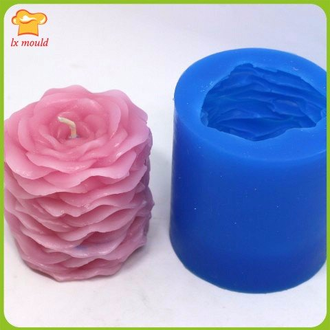 Double rose candles soap mold silicone mold wedding candles Petals soap mold valentine's day gift