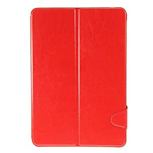 SHERRYLEE Smooth Skin PU Leather Face with PC Cover Case for Samsung Tab 2 10.1 P5100/P5110 and P7500 , Red