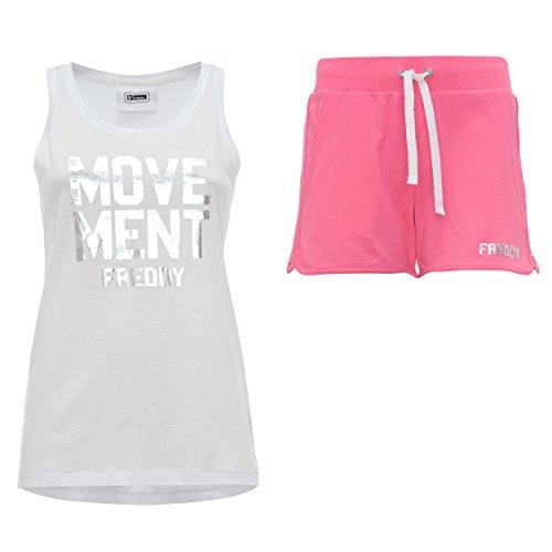 FREDDY Sunnytt-Conjunto deportivo Mujer Rosa (Rosa/Bianco)