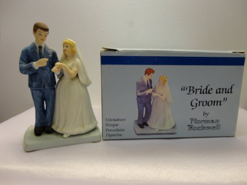 (Bride and Groom; the Museum Miniatures By Norman Rockwell; Miniature Bisque Porcelain)