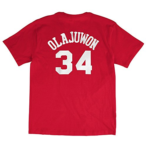 Throwback Houston Rockets Hakeem Olajuwon Name Number Tee