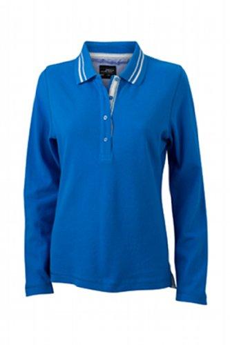 Nicholson Polo Long Donna white Poloshirt James Cobalt Off amp; Blu Ladies' sleeve Ux5gZgHnqw