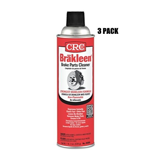 CRC Brakleen Brake Parts Cleaner - Non-Flammable (3 Pack) by CRC