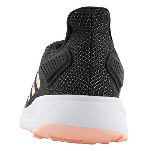 adidas Women's Duramo 9 Running Shoe Blk/Peach 6.5 Medium US
