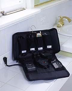 "Travel Cord Organizer (Black) (11.75""H x 8""W x 3""D)"
