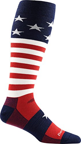 Darn Tough Captain America Cushion Sock - Men's Stars & Stripes Large