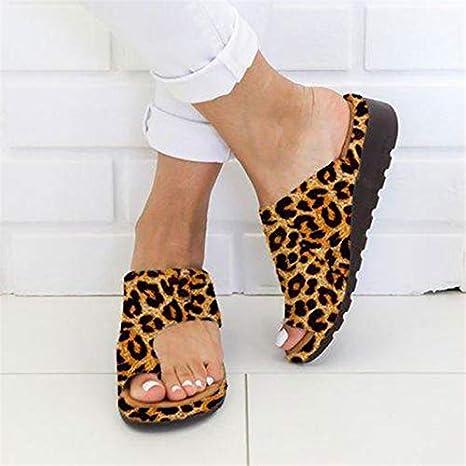 NVXIE Plataforma de Mujer Sandalia de cuña Corjetes de Zapatillas de juanete correctas para la corrección del Hueso del Dedo Gordo del pie, Zapatillas de Playa de Verano Zapatillas de Viaje,007,34EU: Amazon.es: