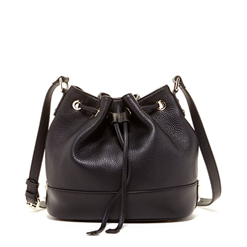 (SUSU Black Bucket Bag Leather Purses Black Bucket Bags For Women Drawstring Bucket Bag Genunie Pebble Leather Handbags Cute Crossbody Purse Medium Size Barrel Handbag Designer Bags Draw String Bag)