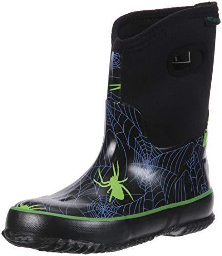 Itasca Unisex Rubber Boots Rain, Black, 4 M US Big Kid ()