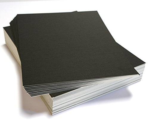 topseller100, Pack of 50 sheets 11x14 UNCUT matboard / mat boards (Black)