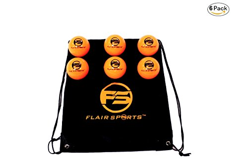 Flair Sports Baseball & Softball Weighted Training Balls for Hitting and Pitching - Improve Power and Technique - Heavies - 1 LB Each (6 Pack - Neon Orange)
