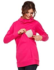 Happy Mama. Womens Maternity Nursing Hoodie Top Sweatshirt Kangaroo Pocket. 053p