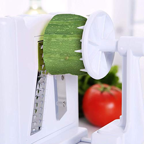 Spiralizer-5-Blade-Vegetable-Slicer-Strongest-and-Heaviest-Spiral-Slicer-Best-Veggie-Pasta-Spaghetti-Maker-for-KetoPaleoGluten-Free-Comes-with-4-Recipe-Ebooks