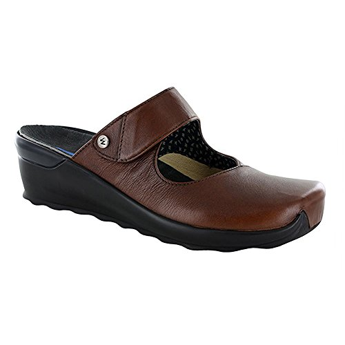 Wolky Comfort Clogs 02576 Up Cognac Valvet Leather fZsEjv