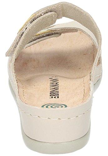 Dr. Brinkmann Dr. Brinkmann Damen Pantolette - Zuecos de Piel para mujer Beige beige Beige - beige