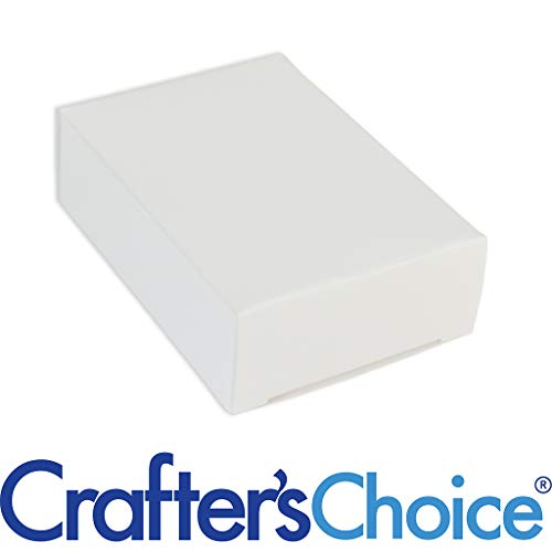 Crafter's Choice White No Window Soap Box - Homemade Soap Packaging - Soap Making Supplies - 100% Recycled Materials - Made in USA! 50 Pack
