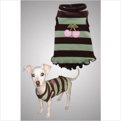 Hip Doggie Cherry Mocha Mint Tank, X-Large