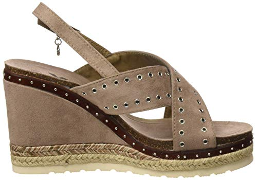 Sandalias Xti 48922 taupe Taupe Mujer Con Para Marrón Plataforma HwZqfTw