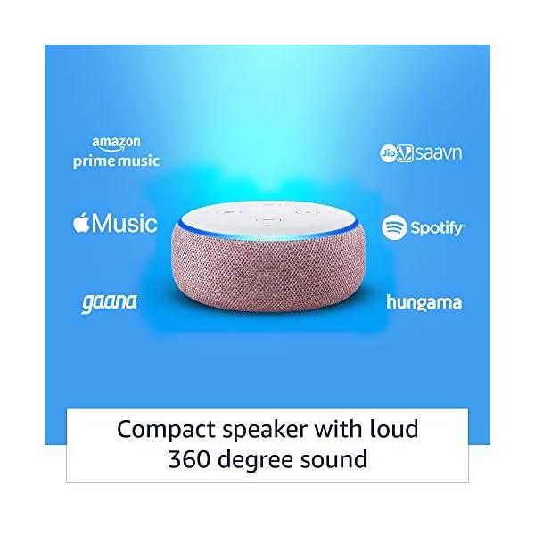 41mgMGA1gwL Echo Dot (3rd Gen) – Smart speaker with Alexa (Purple)