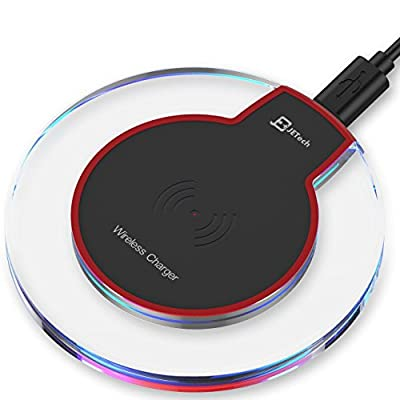 Wireless Charger, JETech Ultra-Slim Wireless Charging Pad for Samsung S8/S8 Plus/S7/S7 Edge/S6, Nexus 7/6/5/4(2013), Nokia Lumia 920, LG Optimus Vu2, and All Qi-Enabled Devices - 2170 from JETech