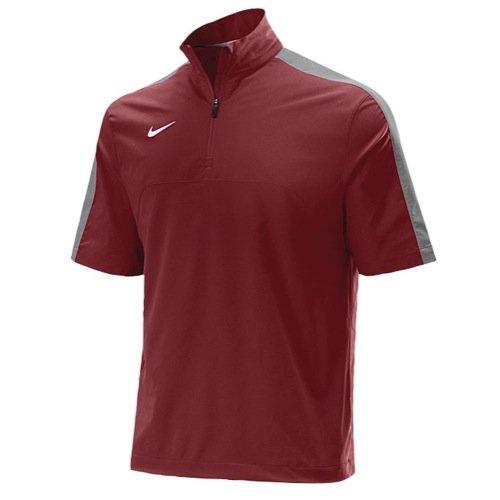 Nike Mens S/S Hot Jacket Small Cardinal/Flint Grey