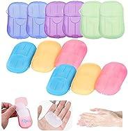 12 Boxes Portable Travel Soap, Disposable Soap Paper Flakes, Mini Slice Sheets for Kitchen/Toilet/Outdoor/Trav