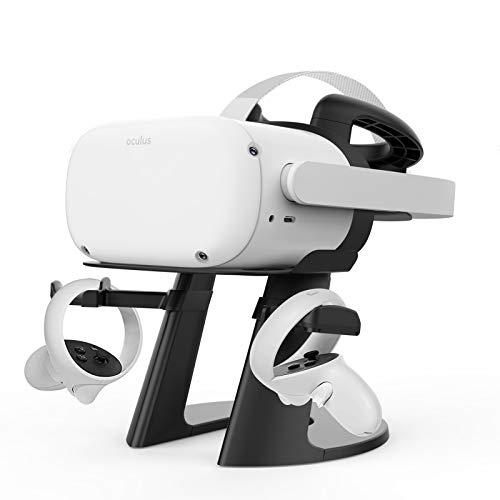 Delamu VR Stand, Compatible with Oculus Quest 2 Stand, VR Headset Stand for Oculus Quest/Quest 2/Rift S/HTC Vive/Valve…