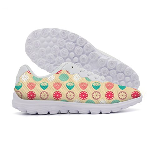 rttyl et67u67 Fashion Young Women Colorful Lemon Slice Walking Running Shoes