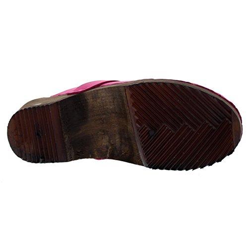 Moheda Womens Emma Nubuck Sandals Pink