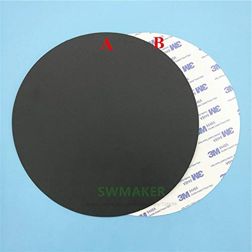 400mm Round Magnetic Adhesive Print Bed Tape Print Sticker Build Plate Tape Flexplate A+b For Diy Kossel/delta 3d Printer Parts Office Electronics Computer & Office