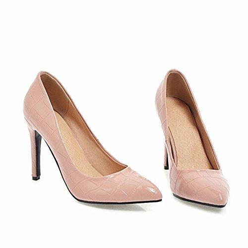 Stiletto Elegante corte de rosa estrecha alto Sexy punta Carolbar zapatos tacón OwEnCSPwTq