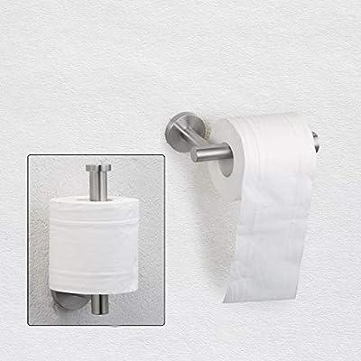 Nolimas Brushed Nickel Bathroom Towel Hook Toilet Paper Holder SUS 304 Stainless Steel Coat Hooks Clothes Coat Robe Hook Cabinet Closet Door Hanger for Bath Kitchen Garage,Wall Mounted